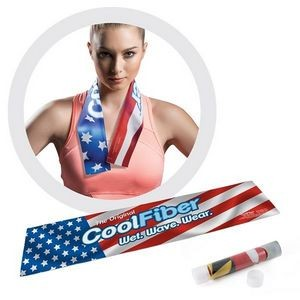 "Classic CoolFiber® Active Cooling Towel (Full Bleed) (7""x 33"")"